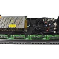 Organizador 19'' Combo RJ45 + Balun Power + Fonte 15A